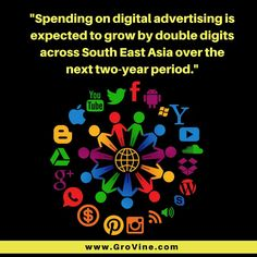 'One of the most powerful forces shaping businesses in the digital revolution, is the effect of digital marketing and social media. Reports have shown that spending on digital advertising is expected to grow by double digits across South East Asia over the next two year period.'  Source - http://www.dailypioneer.com/impact/the-digital-disruption.html   Follow GroVine Digital Marketing for more posts on digital marketing  Visit www.grovine.com  Write to marketing@grovine.com  #godigital