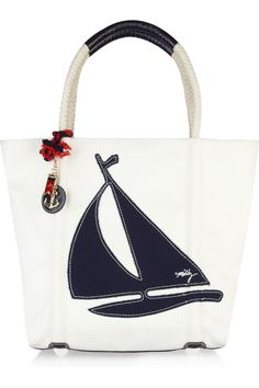 Sailboat canvas tote