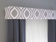 Gray Cornice Board Valance Window Treatment by DesignerHeadboards, $74.00