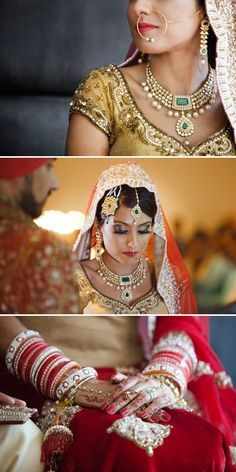 Beautiful kundan jewelry on this Indian bride