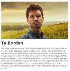 Ty - Season 8 Heartland Actors, Heartland Characters, Heartland Quotes, Heartland Amy, Ty Borden, Dr Quinn, Ty And Amy, Graham Wardle, New Tv Series