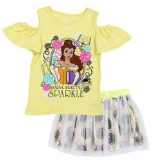 Love this Disney Princess Belle Angel-Sleeve Top Set - Toddler on Disney Outfits Girls, Toddler Girl Outfits, Disney Girls, Kids Outfits, Toddler Girls, Disney Clothes, Disney Princess Toddler, Disney Princess Outfits, Disney Princess Belle