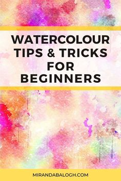 Want to learn how to improve your watercolour skills? Then click here to get 6 expert watercolour tips for beginners and novices. These watercolours tips and tricks will help you understand the importance practicing watercolour brush techniques, why studying colour theory is necessary, and which art supplies are the best to invest in. By following these watercolour dos and don'ts, you'll become a more confident painter in no time! Watercolour Tips, Watercolor Paintings For Beginners, Step By Step Watercolor, Acrylic Painting Tutorials, Easy Watercolor, Watercolour Tutorials, Watercolor Techniques, Your Paintings, Beautiful Paintings