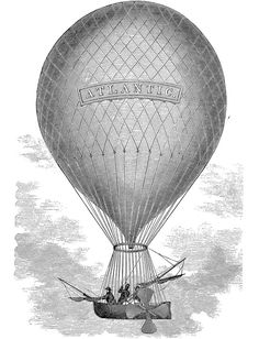 Hot Air Balloon - steampunk style - Great for Image Transfer using Artisan Enhancements Transfer Gel. Have it printed on a laser printer in reverse before transferring to your painted surface.
