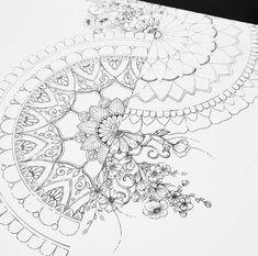 Mandala Art, Mandala Drawing, Zentangle Drawings, Art Drawings, Zentangles, Desenho Tattoo, Doodle Designs, Zen Art, Dot Painting