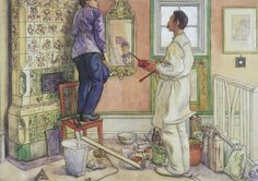 ART & ARTISTS / Carl Larsson - My Friends, the Carpenter and the Painter