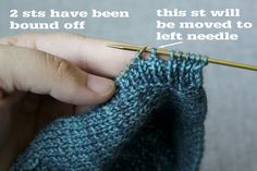 How to Knit a Buttonhole Buttonholes, Fingerless Gloves, Arm Warmers, The Row, Knitting, Fingerless Mitts, Tricot, Breien, Stricken