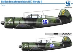 Finnish Air Force, Simile, Ww2 Aircraft, World War Ii, Fighter Jets, Battle, Military, Cutaway, Airplanes