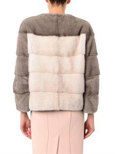 Lilly E Violetta 'Sarah  bi-colour mink fur jacket   £5,940