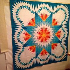 Dragon Star, Quiltworx.com, Made by Twila Boaz Lone Star Quilt, Star Quilts, Star Patterns, Quilt Patterns, Dragon Star, How To Finish A Quilt, Foundation Paper Piecing, Quilt Top, Quilt Making