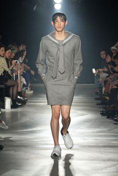 UMMM..... Mens High Fashion or old flight attendant??? Mikio Sakabe Mens RTW Fall 2013 - Slideshow