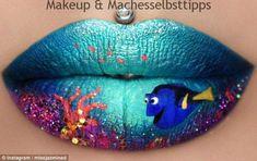 Make-up artist Jazmina Daniel has wowed fans with her lip art skills - Photo 2 Makeup Art, Lip Makeup, Makeup Ideas, Airbrush Makeup, Prom Makeup, Makeup Brush, Makeup Eyeshadow, Makeup Tips, Do It Yourself Nails
