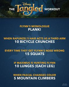 Ultimate Disney Movie Workout Guide - - Working out with your favorite Disney movies > working out. Disney Movie Workouts, Tv Show Workouts, Disney Workout, Fun Workouts, At Home Workouts, Workout Routines, Fitness Workouts, Netflix Workout, Elliptical Workouts