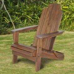 Beachcrest Home Iva Acacia Adirondack Chair Finish: Dark Brown