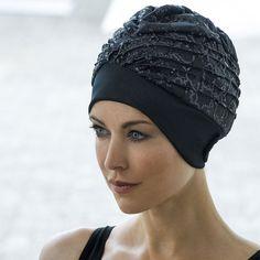 Bonnet de bain femme en tissu pailletté - Aquagym - Abysse-sport.com