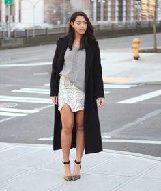 Short dress and long jacket