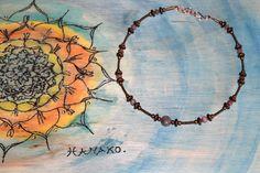 Necklace copper & Ruby par AtelierHanakoStone sur Etsy