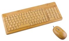 teclado de madeira