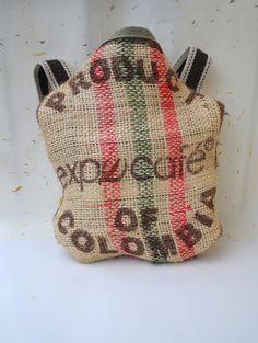 Repurposed Coffee Tote Bag  Hemp Tote Bag  All by Liquidshiva, $39.00