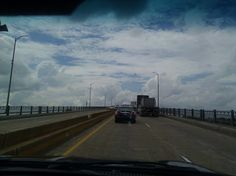 going up a steep bridge in new orleans