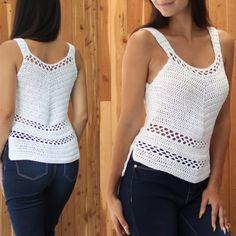 Crochet Summer Tops, Crochet Halter Tops, Crochet Blouse, Cotton Crochet, Crochet Top, Crochet Vest Pattern, Crochet Patterns, Crop Top Pattern, Crochet Shell Stitch