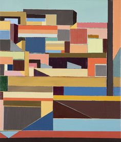 """Abstraction of the cityscabe, New York, 2014 """" Corrections 3"""""""