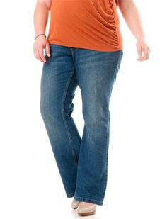 Motherhood Maternity: Plus Size Secret Fit Belly(tm) Boot Cut Maternity Jeans $36.98