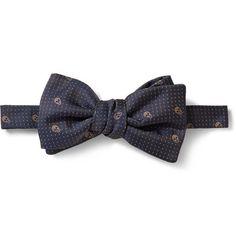 Alexander McQueen Skull Silk-Jacquard Bow Tie | MR PORTER