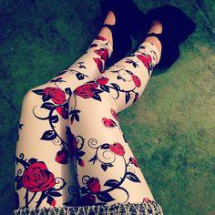 Roses White Leggings - LIMITED | Black Milk Clothing