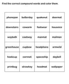 Compound Words Worksheet 13 - esl-efl Worksheets - kindergarten Worksheets