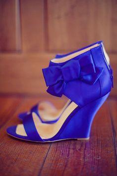 bright blue wedges