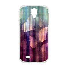 Pink Green Butterflies Samsung Galaxy S4 Case on CafePress.com