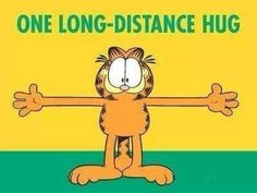 long distance hug quotes cute quote hug garfield long distance