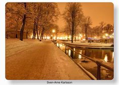 Evening in Örebro