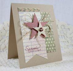 Handmade Holiday  Christmas Greeting Card by EndlessInkHandmade #Christmas…