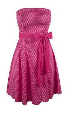 Retro Style Pin Up Dress - Fuchsia