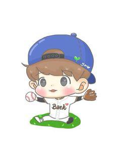 Cute fanart exo baekhyun chibi