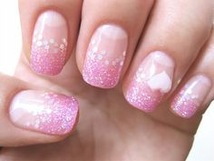 gel nail / pink sequin ♡*