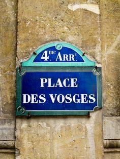 PARIS Le Marais I Place des Vosges. Marais district.