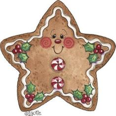 Free Christmas Decorative painting patterns View album on Yandex. Gingerbread Crafts, Christmas Gingerbread, Noel Christmas, Christmas Clipart, Christmas Printables, Christmas Pictures, Christmas Ornaments, Gingerbread Men, Gingerbread Cupcakes