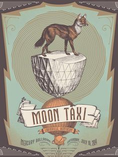 Moon Taxi Poster by Status Serigraph