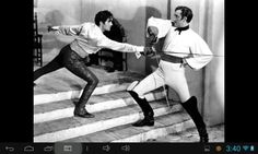 Mark of Zorro 1940. The best fencing scene ever made in my opinion. Sure the camerawork is dated but the choreography. The choreography! It´s fast, it has power behind the strikes, it really looks like two people trying to end the other one..