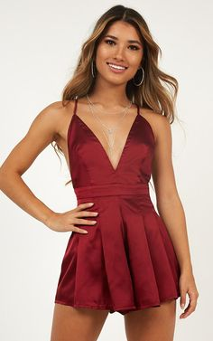 d47ce96298 Never Be The Same Playsuit In Wine Produced By SHOWPO Dress Up Outfits