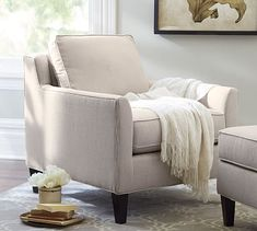 Beverly Upholstered Armchair #potterybarn 32x35x35