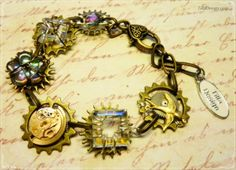 Steampunk bracelet made by TillaDesign.com