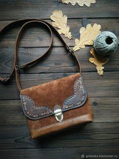 Leather and Suede Bag   Сумка из натуральной кожи и замши в стиле бохо — работа дня на Ярмарке Мастеров