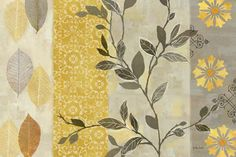 RB5677CC <br> Aspen Leaves Yellow/Gray <br> 24x36