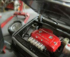 VW Golf 1 II Corrado VR6 Modellauto Motor Platte Bausatz 1/18 Umbau Motor Tuning | eBay