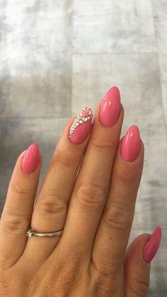 Pink nail aty – About Eye Makeup Cute Pink Nails, Love Nails, My Nails, Gorgeous Nails, Pretty Nails, Acrylic Nail Shapes, Uñas Fashion, Nagel Blog, Almond Acrylic Nails