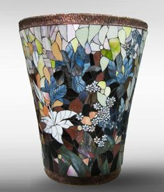 Напольные вазы авторская художественная мозаика, VIP-подарок